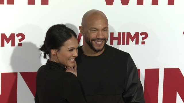 Stephen Bishop and Jesiree Dizon at the Why Him World Premiere at Regency Bruin Theater on December 17 2016 in Westwood California