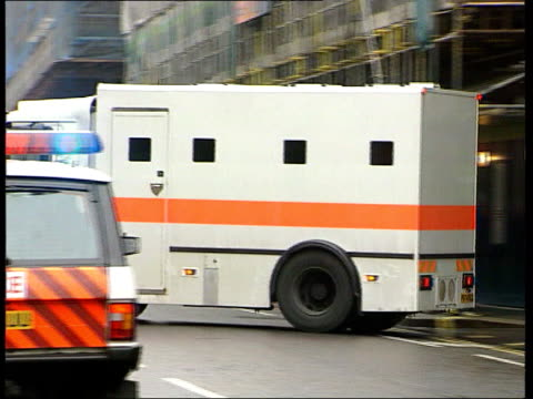kenneth noye trial england london prison van taking kenneth noye from court after latest day of trial for murder of stephen cameron pan - murder stock videos & royalty-free footage