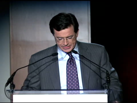 stephen colbert at the food bank for new york city's 25th anniversary and 5th annual cando awards dinner at abigail kirsch's pier sixty at chelsea... - chelsea piers stock videos & royalty-free footage