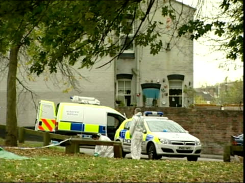 13yearold boy charged 5112007 england birkenhead ext forensic tent forensic officers and police officers at scene where body was discovered - merseyside stock videos and b-roll footage