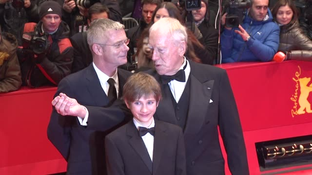 Stephen Daldry Max von Sydow Thomas Horn at Extremely Loud And Incredibly Close Premiere 62nd Berlin International Film Festival on February 10 2012...