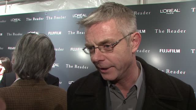 stephen daldry on choosing kate winslet for the role of hanna, on the realism and historical accuracy of the film, on working with the screenwriter,... - scriptwriter stock videos & royalty-free footage
