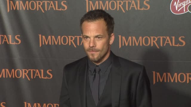 stockvideo's en b-roll-footage met stephen dorff at the 'immortals' los angeles premiere at los angeles ca - stephen dorff