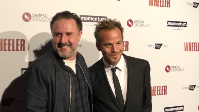 stockvideo's en b-roll-footage met stephen dorff david arquette at the premiere of momentum pictures' wheeler on january 30 2017 in hollywood california - stephen dorff
