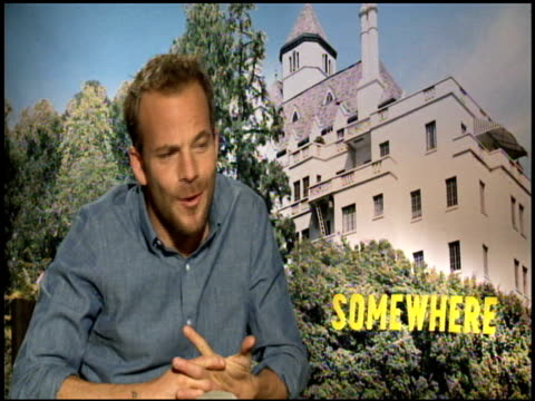 stockvideo's en b-roll-footage met stephen dorff on the challenge of working on the film at the 'somewhere' junket at los angeles ca - stephen dorff