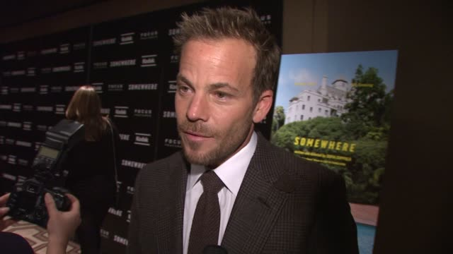 stockvideo's en b-roll-footage met stephen dorff on what the title means to him we're all trying to go somewhere at the 'somewhere' special screening at new york ny - stephen dorff