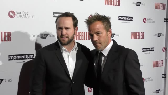 stockvideo's en b-roll-footage met stephen dorff ryan ross bobby tomberlin at the premiere of momentum pictures' wheeler on january 30 2017 in hollywood california - stephen dorff