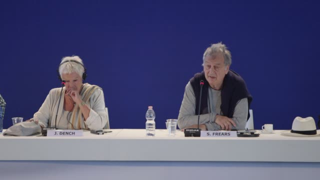 stephen frears on relevance to modern day at palazzo del casino on september 03, 2017 in venice, italy. - 第74回ベネチア国際映画祭点の映像素材/bロール