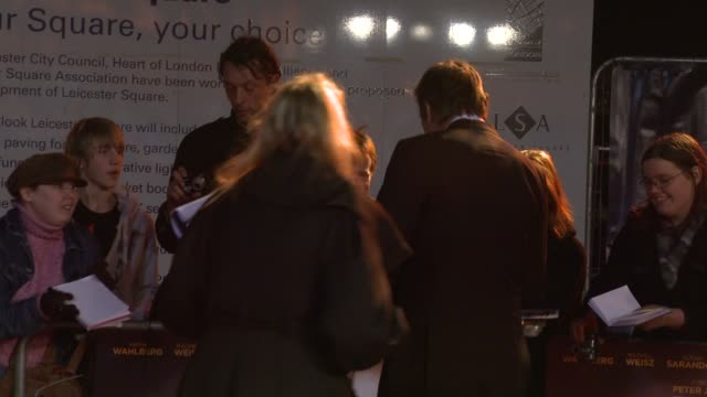 stephen fry at the the lovely bones world premiere at london england. - スティーブン フライ点の映像素材/bロール