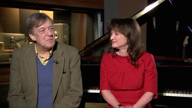 stephen fry collaborates with composer debbie wiseman in retelling of greek myths england london int reporter asking question the mythos suite... - stephen fry stock videos & royalty-free footage