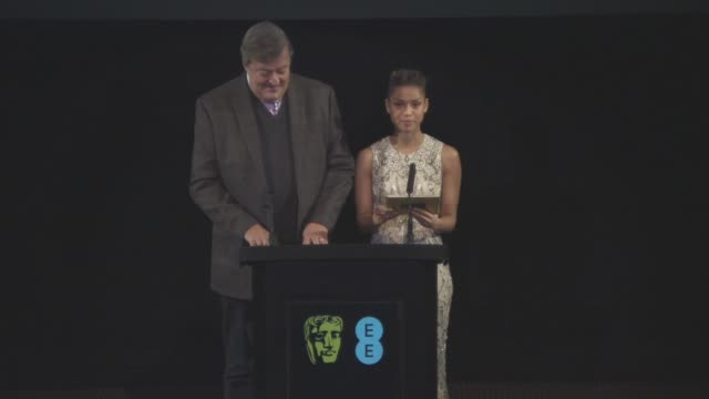 stephen fry gugu mbatharaw announce the nominations for the bafta awards at the ee british academy film awards nominations announced on january 8... - stephen fry stock videos & royalty-free footage
