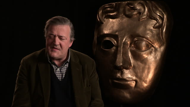 stephen fry people calling bafta elitist at bafta interview at upbeat on february 02, 2015 in london, england. - stephen fry stock videos & royalty-free footage