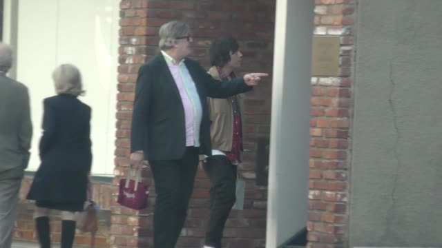 stephen fry shopping in beverly hills in celebrity sightings in los angeles, - stephen fry stock videos & royalty-free footage