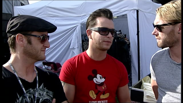 stockvideo's en b-roll-footage met lib stephen gately interview sot on looking forward to touring next year - boyzone
