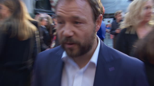 interview stephen graham actor on being a fanboy during filming reviews for the film and what it's like being part of a 160 million dollar film at... - premiere stock-videos und b-roll-filmmaterial