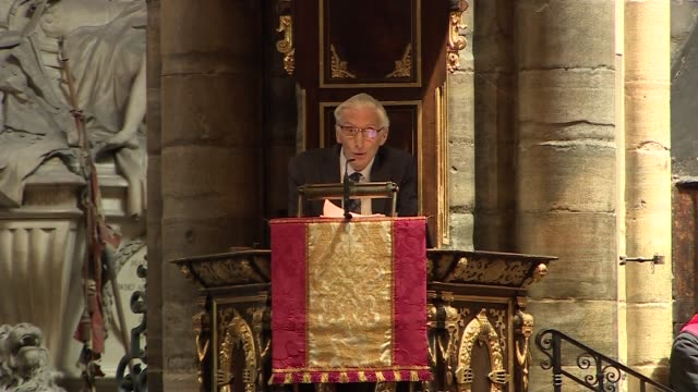 stephen hawking memorial service uk london westminster abbey martin rees eulogy part 1 london westminster westminster abbey int martin rees... - eulogy stock videos & royalty-free footage