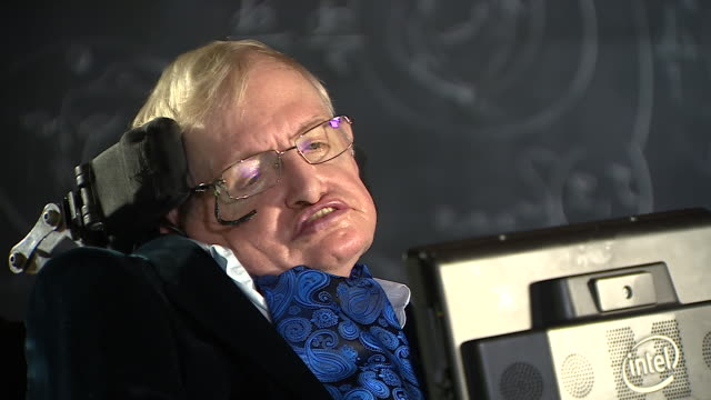 Stephen Hawking saying his battle with ALS has been a great struggle and one he has gotten through with the help of colleagues family and friends
