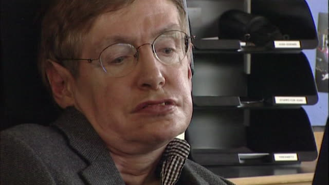 stephen hawking saying we can 'predict the future' with the information contained within black holes - philosophy stock videos & royalty-free footage