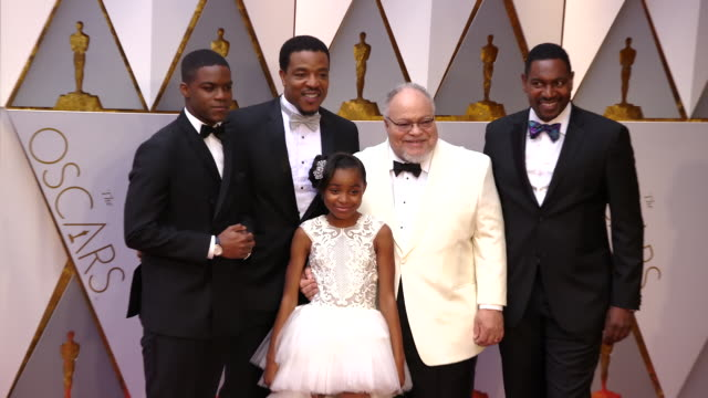 stephen henderson and guests at 89th annual academy awards - arrivals at hollywood & highland center on february 26, 2017 in hollywood, california.... - hollywood and highland center stock videos & royalty-free footage