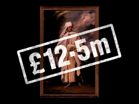 stephen johnson interview sot not easy to give money away even when you think you're doing the right thing ms joshua reynolds painting of 'polynesian... - raphaël haroche stock videos & royalty-free footage