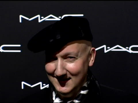 Stephen Jones at the Olympus Fashion Week Fall 2006 MAC Chinese Dress Party Inside at Eyebeam in New York New York on February 2 2006