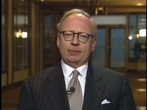 stephen jones, former attorney for oklahoma city bomber timothy mcveigh, agrees with judge richard matsch's decision on denying a stay of execution. - timothy mcveigh stock videos & royalty-free footage