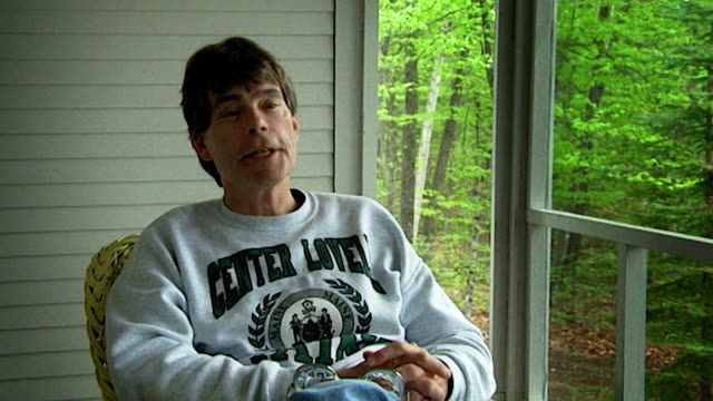 stephen king on his addiction to alcohol - maine stock videos & royalty-free footage