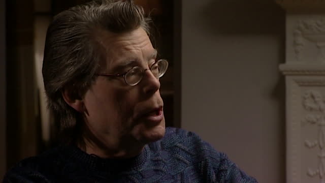 stephen king saying he wouldn't have published his novel 'lisey's story' if his wife tabitha had objected to it' - author stock videos & royalty-free footage