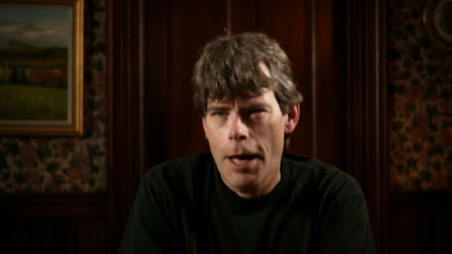 stephen king talks about not fitting in at school saying 'i always felt like i was wearing the wrong clothes, i always felt like i had too many spots... - imagination stock videos & royalty-free footage