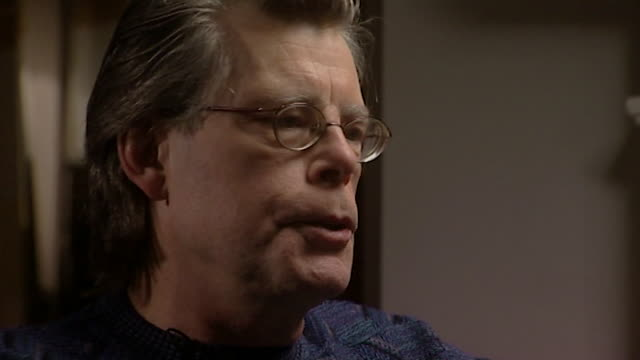 stephen king wife's tabitha makes a joke about his hair - author stock videos & royalty-free footage