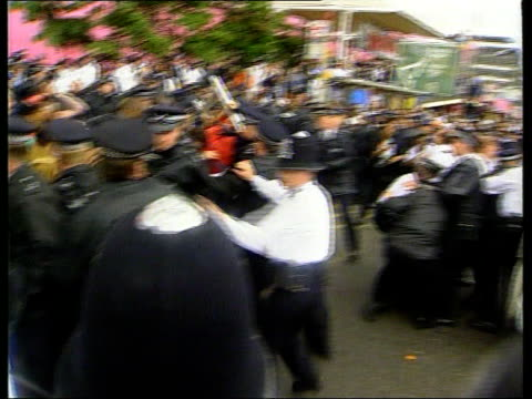 Double Jeopardy rule to be scrapped LIB Elephant and Castle TMS Police officers trying to restrain angry protesters outside Stephen Lawrence murder...