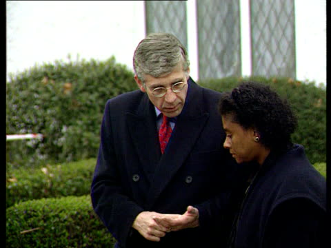 Double Jeopardy rule to be scrapped LIB Eltham Home Secretary Jack Straw MP speaking to Doreen Lawrence at memorial Flowers laid at memorial GV Straw...