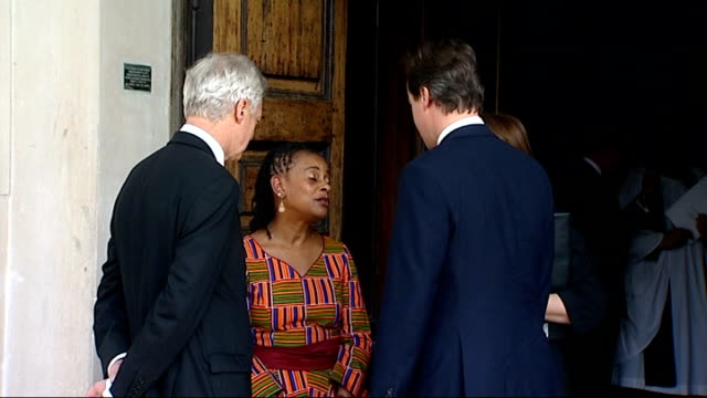 15th anniversary memorial service doreen lawrence meets david cameron mp and david davis mp shadow home secretary poses for photos and chats / with... - jack straw stock videos & royalty-free footage
