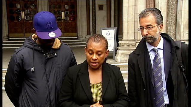 gary dobson and david norris to face trial high court ext doreen lawrence speaking to press sot perhaps somewhere down the line we'll get justice for... - face down stock videos & royalty-free footage