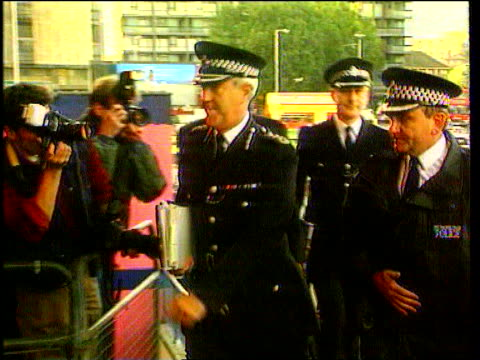 Leaked report row LIB Elephant and Castle Metropolitan Police Commissioner Sir Paul Condon along with other senior police officers to give evidence...