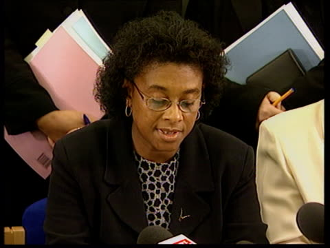 Stephen Lawrence murder inquiry report made public tEEN U London INT Doreen Lawrence press conference SOT When one of your children has been brutally...