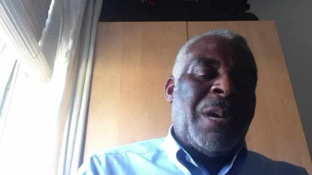 stephen lawrence murder: neville lawrence responds to closure of investigation; england: london: int neville lawrence 2-way interview via the... - crime and murder点の映像素材/bロール