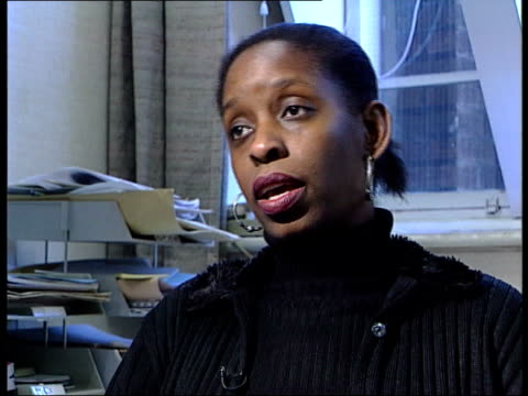 stephen lawrence murder policeman charged to retire itn jennifer douglas interview sot this is extremely damaging it is disasterous - murder stock videos & royalty-free footage