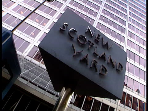 stephen lawrence murder policeman charged to retire lib new scotland yard gvs - murder stock videos & royalty-free footage