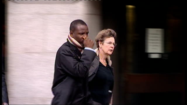 Day 3 Old Bailey DAY Duwayne Brooks leaving court and along