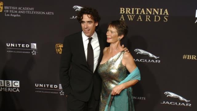 Stephen Mangan and Celia Imrie at the 2014 BAFTA Los Angeles Jaguar Britannia Awards Presented by BBC America and United Airlines in Los Angeles CA on