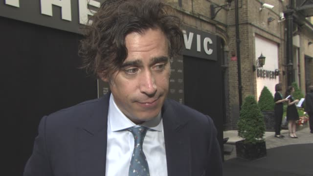 INTERVIEW Stephen Mangan legacy of the Old Vic funding the importances of story telling 200 years old Donald trump ability to see the world through...