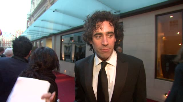 Stephen Mangan on his first time at the awards and his hopes for Norman Conquests to go to Broadway with a Olivier award and having not written a...