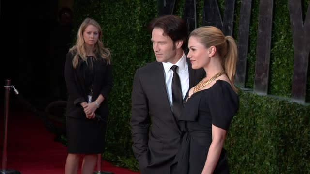 Stephen Moyer and Anna Paquin at the 2010 Vanity Fair Oscar Party Hosted By Graydon Carter at West Hollywood CA