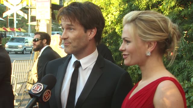 Stephen Moyer and Anna Paquin at the 2011 Vanity Fair Oscar Party Arrivals at Hollywood CA