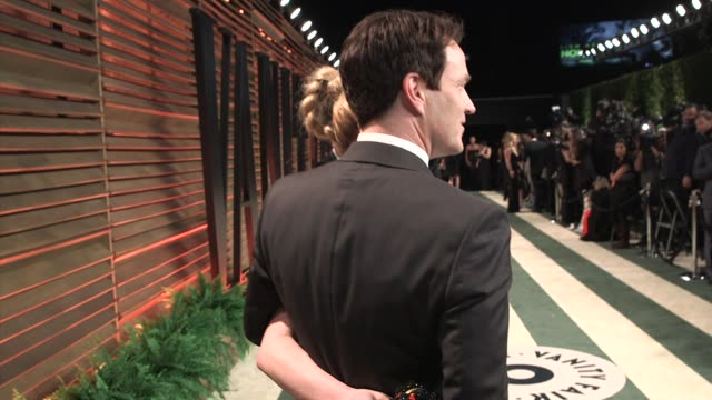 stephen moyer and anna paquin at the 2014 vanity fair oscar party hosted by graydon carter - arrivals on march 02, 2014 in west hollywood, california. - oscar party stock videos & royalty-free footage