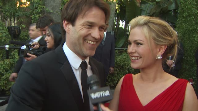 Stephen Moyer and Anna Paquin on the Vanity Fair Oscar Party at the 2011 Vanity Fair Oscar Party Arrivals at Hollywood CA