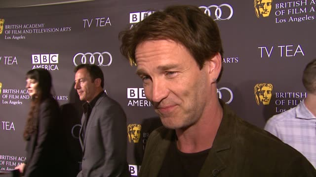 INTERVIEW Stephen Moyer on being a part of the afternoon the last time he had high tea at BAFTA LA TV Tea 2013 Presented By BBC America And Audi on...
