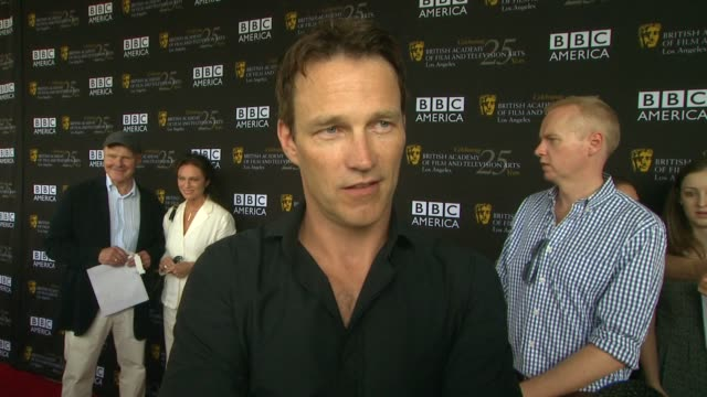 Stephen Moyer on what brings him out at BAFTA LA TV Tea 2012 Presented By BBC America on 9/22/2012 in West Hollywood CA