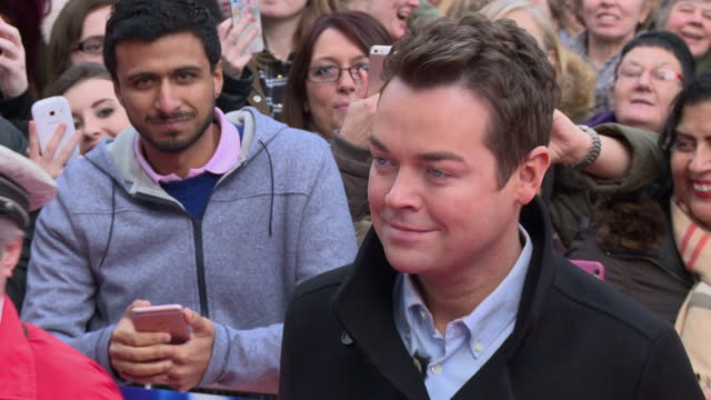 stephen mulhern at britain's got talent photocall at birmingham hippodrome on february 04 2016 in birmingham england - britain's got talent stock-videos und b-roll-filmmaterial